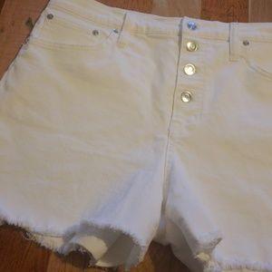 J. Crew Denim White shorts